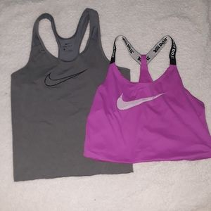 Nike Cropped Dri Fit Tanks